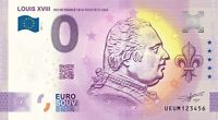 BILLET 0  EURO LOUIS XVIII  ROI DE FRANCE   2021 NUMERO DIVERS