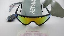 Oakley Eyeshade Matte Black Orange Iridium+Grey 03-600+Strap+Stems Gen 1 RARE