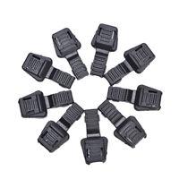 20x Black Paracord Plastik Reißverschlüsse Pull Ersatz für Sport Outdoor   ZP
