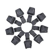 20X Black Paracord Plastic Zippers Pull Replacement For Sport Outdoor Soft ^DL,t
