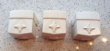 3 Vintage Art Deco Celluloid Ring Boxes Ivory Retro Romantic