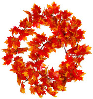 5 Pack Artificial Maple Leaf Garlands Autumn Hanging Fall 7.9 Ft Christmas Decor
