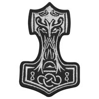 Thor HAmmer Face Superhero Patch Iron On Sew On Badge Embroidered Patch