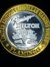 1997 G Flamingo Hilton Casino Silver Strike $10 Michael Jackson Token
