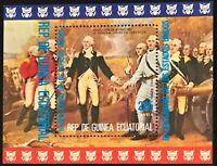 Equatorial Guinea #MiBl174 MNH S/S CVEUR6.00 American Bicentennial Burgoyne