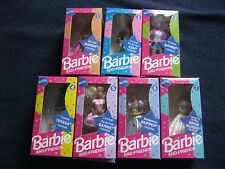 Mattel Vintage Barbie And Friends Figures Set Of 7 New Boxed