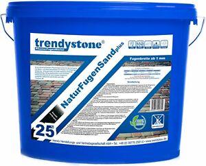 trendystone NaturFugenSand PLUS, unkrauthemmend, 100% chemiefrei, 25kg, NEUHEIT