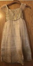 BNWT Monsoon Estella Glitter Gold Dress 3Yrs