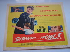 STRANGER ON THE PROWL title card 1953 Paul Muni Joseph Losey film noir