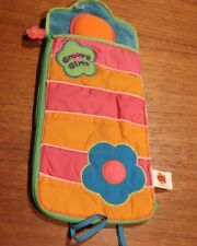 SET 2 Groovy Girls Sleeping Bag Flower Zip Around VINTAGE