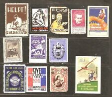 12 non-Us, Foreign Poster Stp China British Czech Hungry + Cinderellas 1929-