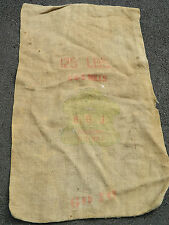 ancien SAC en TOILE linen OLD BAG vintage C&S C et S MILLS B.G.J spanish US n°1