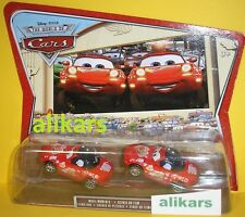 MIA & TIA RED  Lightning McQueen Fans Movie Moments World of Cars Disney 2-Pack