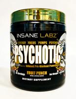 Insane Labz PSYCHOTIC GOLD - Strongest Pre Workout Energy Strength FRUIT PUNCH