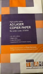 A3 80gsm white paper NEW  1 ream = 500 sheets REDUCED IN PRICE - COLLECTION ONLY