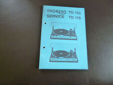Original Service Manual Schaltplan  Schaltplan Thorens TD 110 TD 115