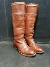 FRYE BOOTS Jane Stitch Redwood Pebbled Leather  -77230 Siz. 9 1/2 B