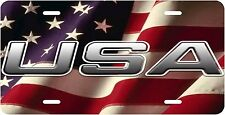 USA FLAG Vanity Novelty license plate Made In The USA With PRIDE