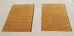 Pair of 2' x 3' Tibetan Rugs, Wool & Hemp, Gold, Modern Solid, Bedside Matching