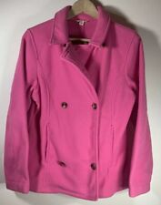 Lands End Kids Pink Fleece Peacoat XL NWT