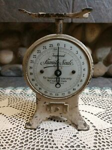 Vintage metal Scale Improved Family Scale Made In Germany Working