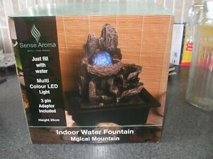 Sense Aroma 10 Inch Magical Mountain Indoor Water Fountain with LED lights