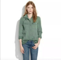 Madewell Style 47515 Green 100% Cotton Button Down Tomboy Workshirt Women's S