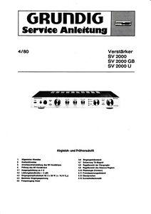 Service Schema für Grundig SV 2000