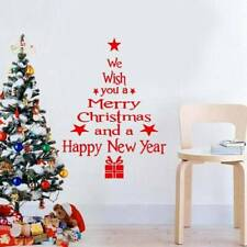 Merry Christmas Letters Shop Window Door Wall Sticker Home Decorations New Year