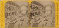 Palais Dei Stampa Esposizione Universale Parigi 1889 Stereo Vintage Albumina