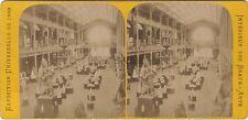 Palais des Beaux-Arts Exposition Universelle Paris 1889 Stereo Vintage albumine