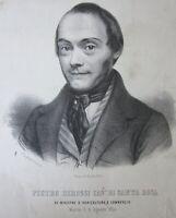 1850 PIETRO DEROSSI Cavaliere di Santa Rosa litografia Felice Seghesio Santarosa