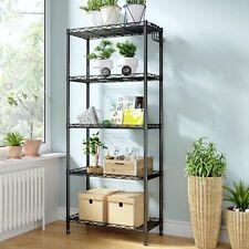 5 Tier Wire Shelving Unit Adjustable Steel Metal Shelf Rack Household Storage