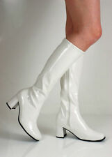 Wedge Synthetic Leather Knee High Boots for Women