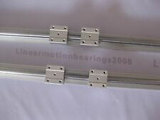 2 linear bearing slide unit SBR25-1000mm rails+4 blocks