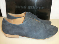 Miss Sixty New Womens Marlene Black Slip On Eur 41 US 10 to 10.5 M Shoes