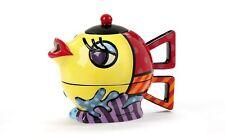 Romero Britto Full Size Ceramic Fish Tea For One Teapot New Design 12.3 oz