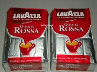 LAVAZZA QUALITA ROSSA GROUND COFFEE 1 Kg MEDIUM FULL BODIED FREE P&P 2x 500g