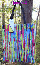 NEW Prabal Gurung for Target Tote Bag Nolita Multi Colored Print Shopper Handbag