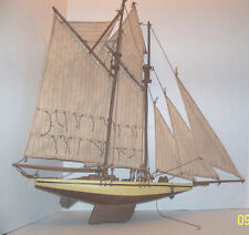"Large wooden ship with sails hand made 23"" x 24"" wow"