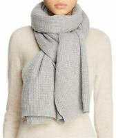 Vince Thermal Womens Wool & Cashmere Scarf Grey