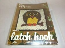 Vtg 1978 Bettys Rug Squares Latch Hook Rug Kit Groovy Owl #701 Sealed 12x12