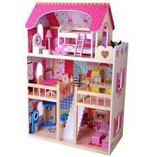 XXL Puppenhaus DREAM VILLA Barbiehaus Puppenhaus Puppenstube aus Holz NEU