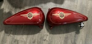 Harley Davidson 1998 Fat Boy split Gas Tank Laser Red