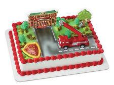 Fire Truck Station Firetruck cake decoration Decoset cake topper set toy