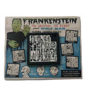 Universal Monsters Roalex Slide Squares Puzzle # 201 Vintage 1960's-Mummy-Creatu