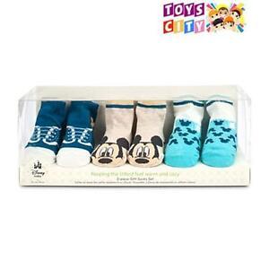 Disney Baby Gift Set Mickey Mouse Socks for Boy - 3 Pair of Sock