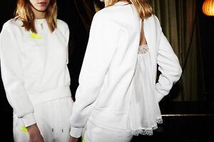 Nike NikeLab Tech Fleece Women's Crew 744608 100 White Size XS S NWT