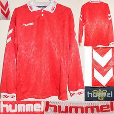 HUMMEL Vintage 90's Maglia Calcio Football Shirt Camiseta Trikot Maillot S Rare