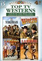 Top TV Westerns: The Virginian / Wagon Train / Laredo / Laramie (4 Disc) DVD NEW